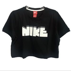 NWT Nike   Archive Crop Graphic Tee Size XL